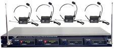 New PDWM4400 Rack Mount 4 Mic VHF Rack Mount Wireless Lavalie/ Headset System