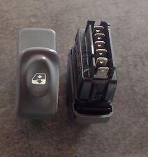 Bouton gris interrupteur leve vitre droit clio 2 phase 1 98 6 broches ref 421119