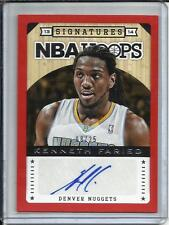 Kenneth Faried 13/14 Panini Hoops Red Autograph #08/25