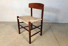 Danish J39 Paper Cord Side Chair by Børge Mogensen for FDB Møbler Stuhl   1950s
