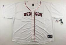 NEW Boston Red Sox Majestic baseball shirt jersey white MLB 6XL Big Tall BNWT