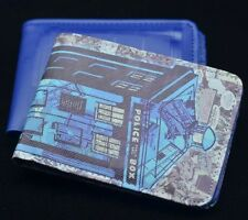 Dr Doctor Who Blue Perennial Logo TARDIS Wallet - Ikon Official BBC Merchandise
