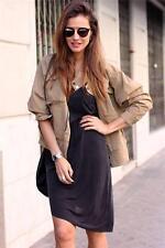 Zara Zip Waist Length Cotton Coats & Jackets for Women