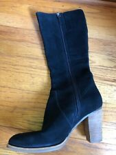 ECCO 41 US 10-10.5 Black Women's Leather Boots