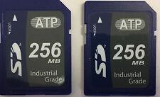 Lot of 2 ATP 256MB SD Industrial Grade Secure Digital Memory Card AF256SDI