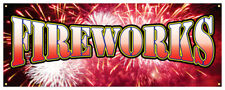 Fireworks Banner Firecracker Stand July 4th Retail Store Sign 36x96