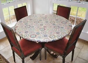 Covers For The Home Elastic Edged Flannel Backed Vinyl Fitted Table Cover - Mult