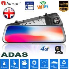 Junsun Android 4G 10'' 1080P ADAS car DVR rearview mirror dash Camera gps navi