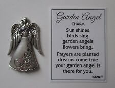 F Holding pot of flowers Garden Angel Pocket Charm mini figurine token Ganz