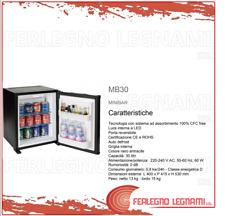 MINIBAR CON TECNOLOGIA AD ASSORBIMENTO 30LT 400X415X530 COLORE NERO ART. MB30