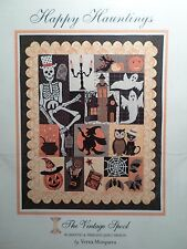 HAPPY HAUNTINGS QUILT PATTERN, Halloween Applique From The Vintage Spool NEW