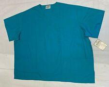 Adar Medical Uniforms Unisex Scrub Top Teal Blue Size 5XL
