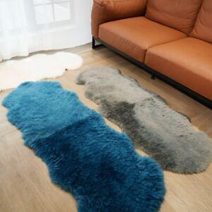 60x160cm 9 colors Australian Sheepskin Rug Natural Fur Soft Warm Sofa Decor