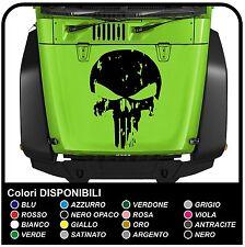 adesivo cofano per jeep Renegade e Wrangler teschio effetto consumato Punisher
