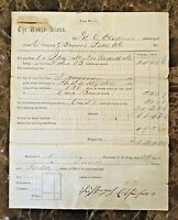 ORIGINAL- CIVIL WAR PAY VOUCHER - PENNSYLVANIA VOLUNTEER INF 73rd REG.Co.D 1862