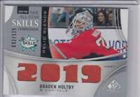 2018-19 SP Game Used '18 All Star Skills Relic Blends Braden Holtby Jersey 1