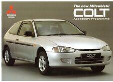 Mitsubishi Colt Accessories 1996-97 UK Market Sales Brochure