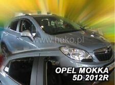 4 Deflettori Aria Antiturbo OPEL MOKKA 2012 in poi 5 porte