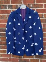 Opposuits Blue White Star Mens Size 40 Suit Jacket Blazer