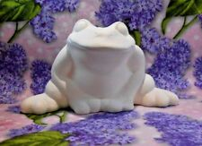 Garden Frog Ceramic Bisque Ready to Paint