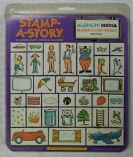 All Night Media Stamp A Story Set 33 Foam Mounted Rubber Stamps & Idea Book