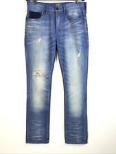 PRPS 32w Demon Distressed Button Fly Blue Jeans Mens 32x35
