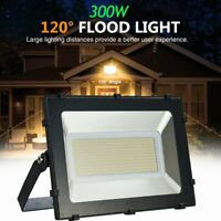 300W LED Flood Light Outdoor Spotlight Garden Yard Lamp Warm White Waterproof US