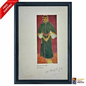 Henri Matisse Original Print Signed and Stamped with COA