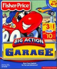 Fisher Price Big Action Garage PC MAC CD car auto repairs truck mechanic game!
