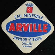 Sous-bock Eau Arville Faulx Namur bierviltje bierdeckel coaster