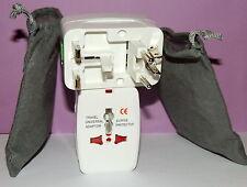 LOT  OF TWO NEW  ALL IN ONE UNIVERSAL TRAVEL Power Plug Adaptor Socket  + BONUS!