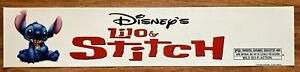 ✨ Lilo And Stitch (2002) - Disney - Movie Theater Mylar / Poster - 5x25