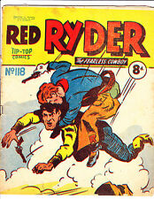 "Red Ryder No 118 1950's -Australian-""Tackling Bad Guy Cover ! """