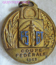 BG6146 -  MEDAILLETTE RUGBY COUPE GARRIGUES FSGT 1953