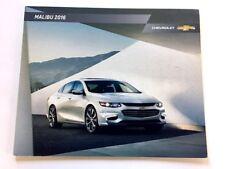 2016 Chevrolet Malibu 32-page Original Car Sales Brochure Catalog