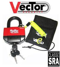 Mini U Bloc Bloque Disque Antivol Alarme moto MINIMAX + VECTOR Homologué SRA