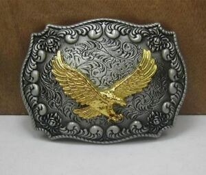 Gürtelschnalle Buckle für Gürtel bis 4 cm Breite Metall tolle Details Adler