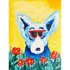 """George Rodrigue BLUE DOG """"Shades of Hollywood with the Poppies Artwork 9""""by12"""""""