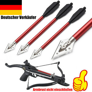 "Aluminium Armbrust Bolzen Pfeile 6,5"" Stahl Jagdspitzen Jagd Mini Bogenschießen"