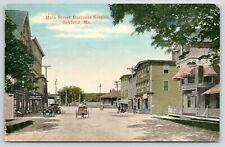Oakland Maine~Main Street Business~Bates Shoe Repair~Bell Telephone~1908 Cars PC