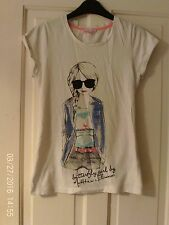 WHITE T SHIRT BY DEBENHAMS, AGED 12-13