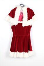 Women's Miss Christmas Santa Fancy Dress Costume Small  (C17A) Velvet