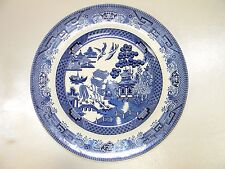 """CHURCHILL BLUE WILLOW 10"""" PLATE, MADE IN ENGLAND, EXCELLENT CONDITION!!"""