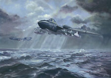 "De Havilland Sea Vixen 899 Sqn Aircraft Aeroplane Painting Art Print - 14"" Print"
