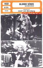 Blonde Venus Paramount Film  Marlene Dietrich Cary Grant  French Trade Card
