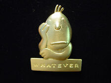 """JJ"" Jonette Jewelry Gold Pewter 'Whatever' FACE Pin by J. Benton"