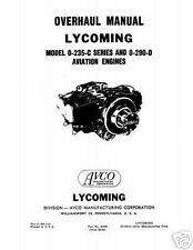 Lycoming O-235-C series & O-290-D Overhaul Manual Part #60298