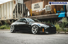 20x10 20x11 +20 Rohana RC22 5x114.3 Silver Wheels Fit Nissan 350z 2005 Staggered