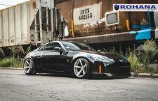 20x10 20x11 +20 Rohana RC22 5x114.3 Silver Wheels Fit Nissan 350z 2005 Staggered