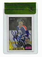 OILERS HOF GLENN ANDERSON signed autographed 1987-88 OPC CARD BECKETT (BAS)